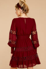8 Of Romance And Lace Wine Dress at reddress.com