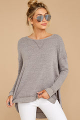 6  The Heather Grey Triblend Vacay Pullover at reddressboutique.com