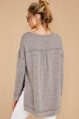 8 The Heather Grey Triblend Vacay Pullover at reddressboutique.com