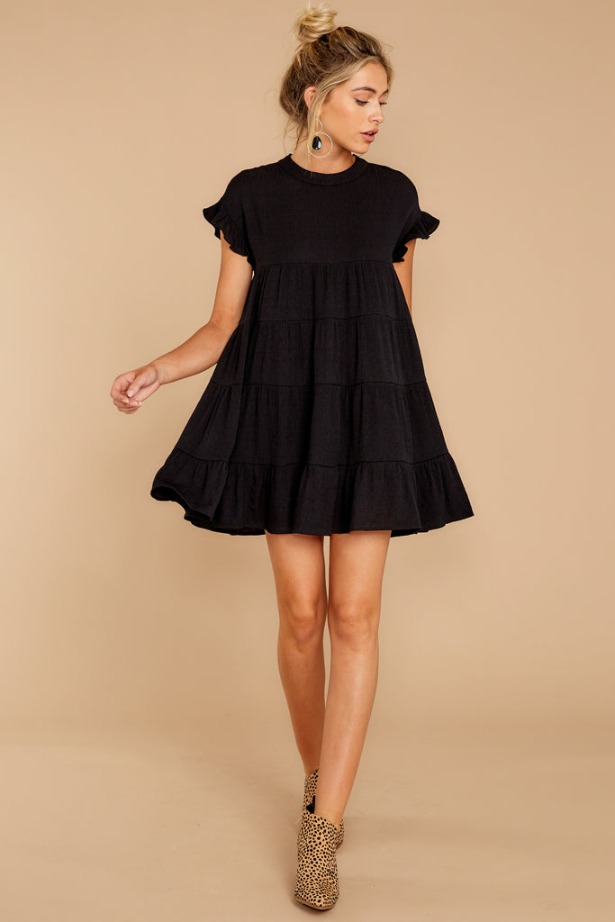 8 Make Some Time Black Dress at reddressboutique.com
