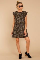2 Blog Poster Black Leopard Print Dress at reddressboutique.com