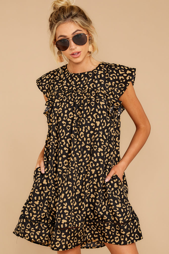 5 Freelance Dreamer Brown Leopard Print Dress at reddressboutique.com