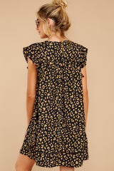 8 Blog Poster Black Leopard Print Dress at reddressboutique.com