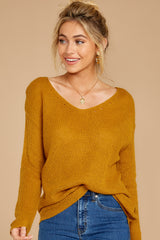 5 Through The Window Goldenrod Sweater at reddressboutique.com