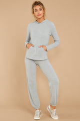 2 CozyChic Ultra Lite® Blue Water Pullover Hoodie at reddressboutique.com