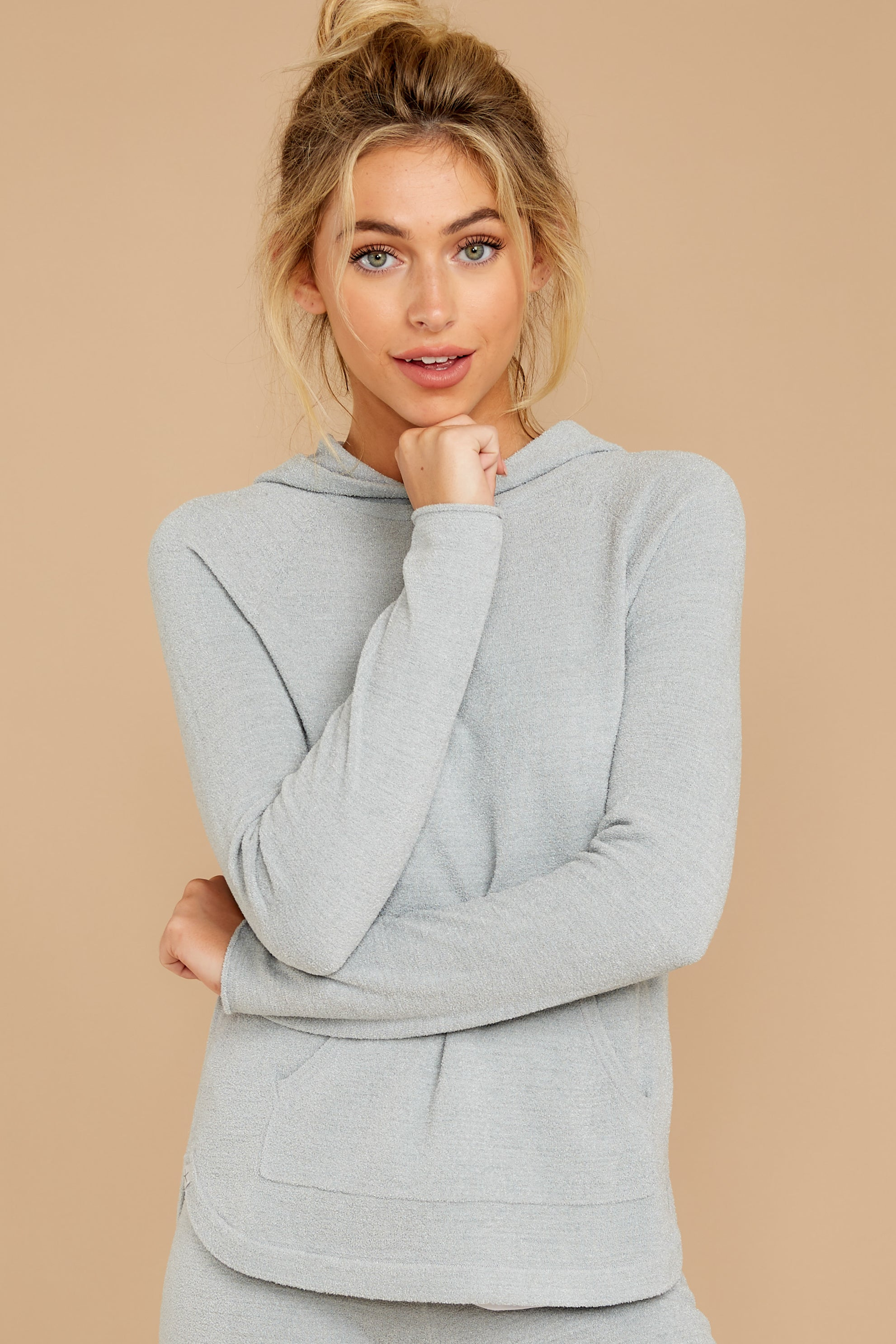 6 CozyChic Ultra Lite® Blue Water Pullover Hoodie at reddressboutique.com