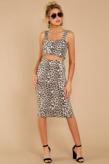 6 On Savannah Time Leopard Print Two Piece Set at reddress.com