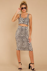 7 On Savannah Time Leopard Print Two Piece Set at reddress.com