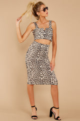 1 On Savannah Time Leopard Print Two Piece Set at reddress.com