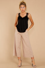 4 Wake Up Wonderful Beige Palazzo Pants at reddressboutique.com