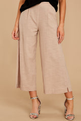 2 Wake Up Wonderful Beige Palazzo Pants at reddressboutique.com