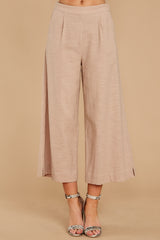 3 Wake Up Wonderful Beige Palazzo Pants at reddressboutique.com