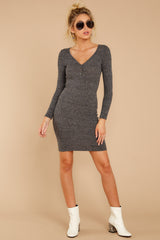 1 Just Getting Started Charcoal Dress at reddressboutique.com