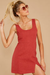 6 Unapologetically Me Mesa Red Dress at reddressboutique.com