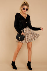 7 Leave Her Wild Tan Snake Print Skirt at reddressboutique.com