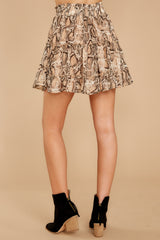 5 Leave Her Wild Tan Snake Print Skirt at reddressboutique.com