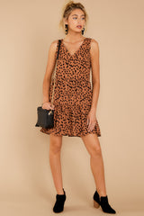 2 Falling Fast Dark Cheetah Print Dress at reddressboutique.com