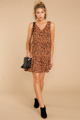3 Falling Fast Dark Cheetah Print Dress at reddressboutique.com