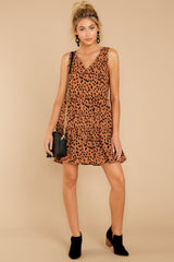 4 Falling Fast Dark Cheetah Print Dress at reddressboutique.com