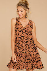 5 Falling Fast Dark Cheetah Print Dress at reddressboutique.com