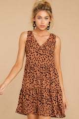 6 Falling Fast Dark Cheetah Print Dress at reddressboutique.com