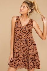 7 Falling Fast Dark Cheetah Print Dress at reddressboutique.com