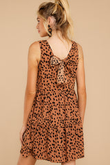 8 Falling Fast Dark Cheetah Print Dress at reddressboutique.com