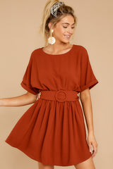 5 Keen On You Rust Orange Dress at reddress.com