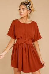 6 Keen On You Rust Orange Dress at reddress.com