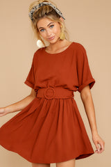 7 Keen On You Rust Orange Dress at reddress.com