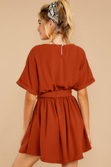 8 Keen On You Rust Orange Dress at reddress.com