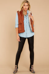 2 Park City Reversible Chestnut Vest at reddressboutique.com