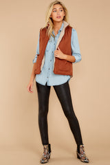1 Park City Reversible Chestnut Vest at reddressboutique.com