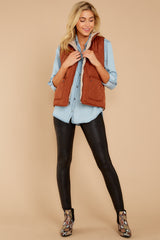 3 Park City Reversible Chestnut Vest at reddressboutique.com