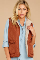 6 Park City Reversible Chestnut Vest at reddressboutique.com