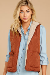 7 Park City Reversible Chestnut Vest at reddressboutique.com