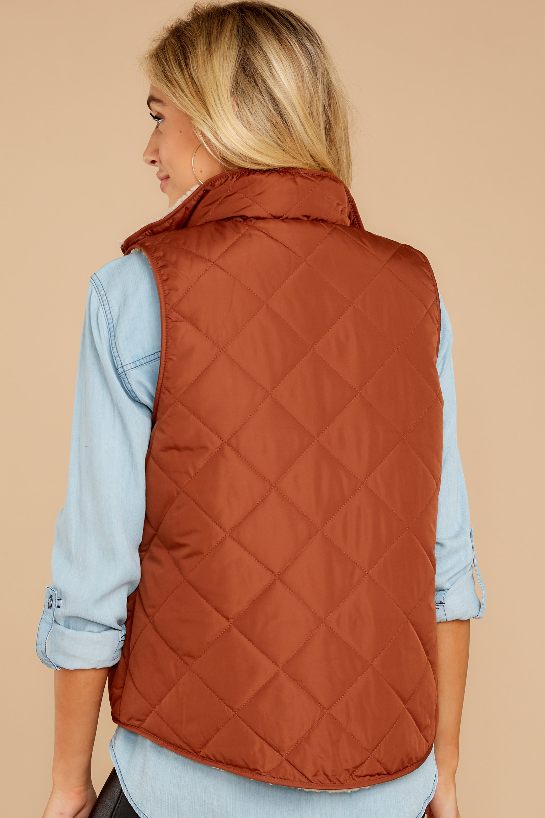 8 Park City Reversible Chestnut Vest at reddressboutique.com