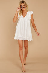1 Keep A Secret White Romper at reddress.com