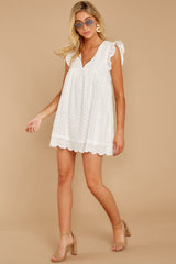 2 Keep A Secret White Romper at reddress.com
