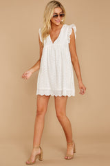 3 Keep A Secret White Romper at reddress.com