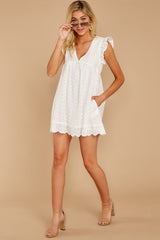 4 Keep A Secret White Romper at reddressboutique.com