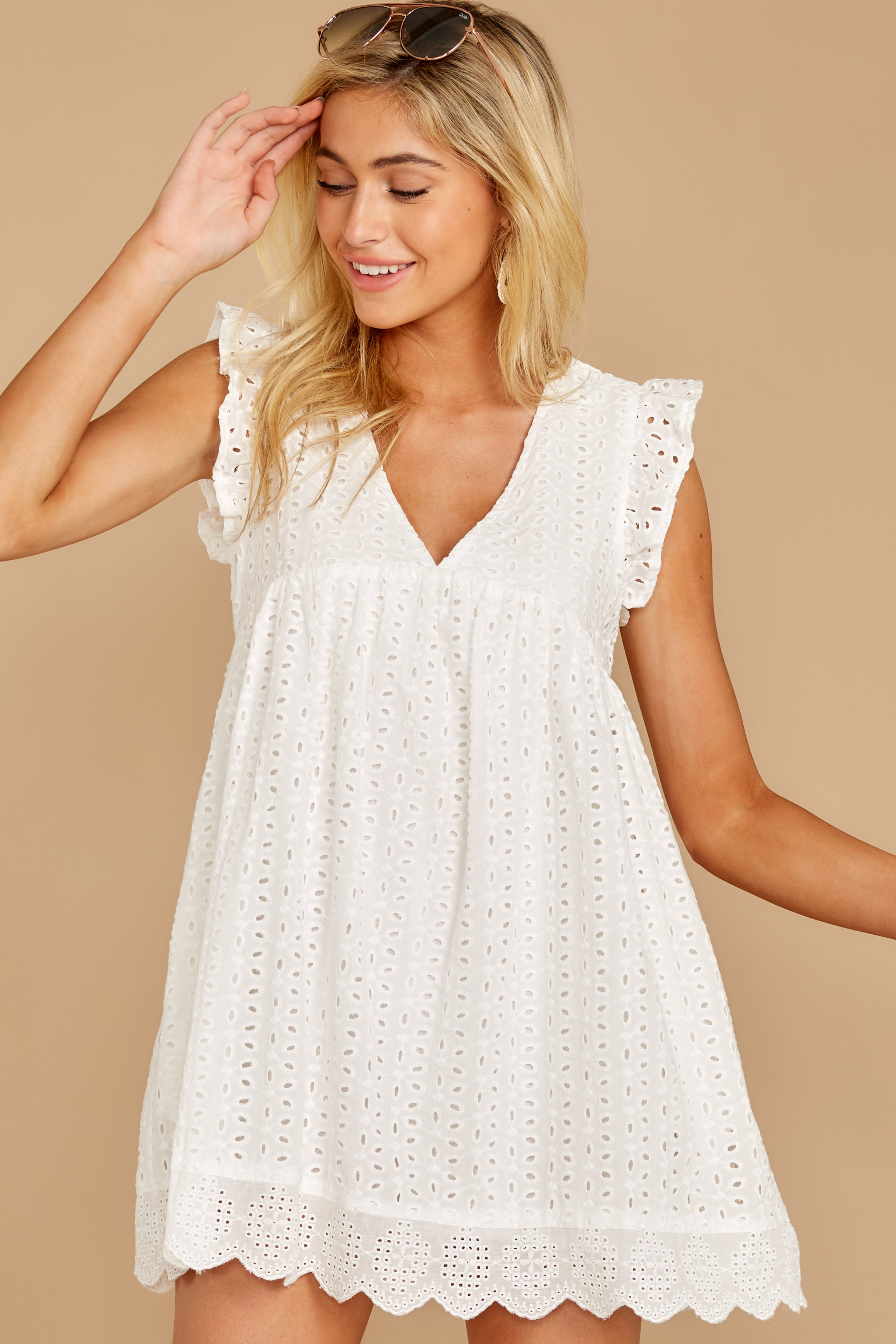 5 Keep A Secret White Romper at reddress.com