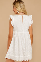 6 Keep A Secret White Romper at reddressboutique.com