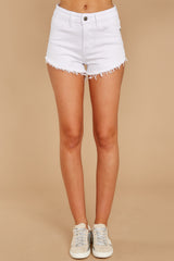 2 Under The Radar White Cut Off Denim Shorts at reddressboutique.com