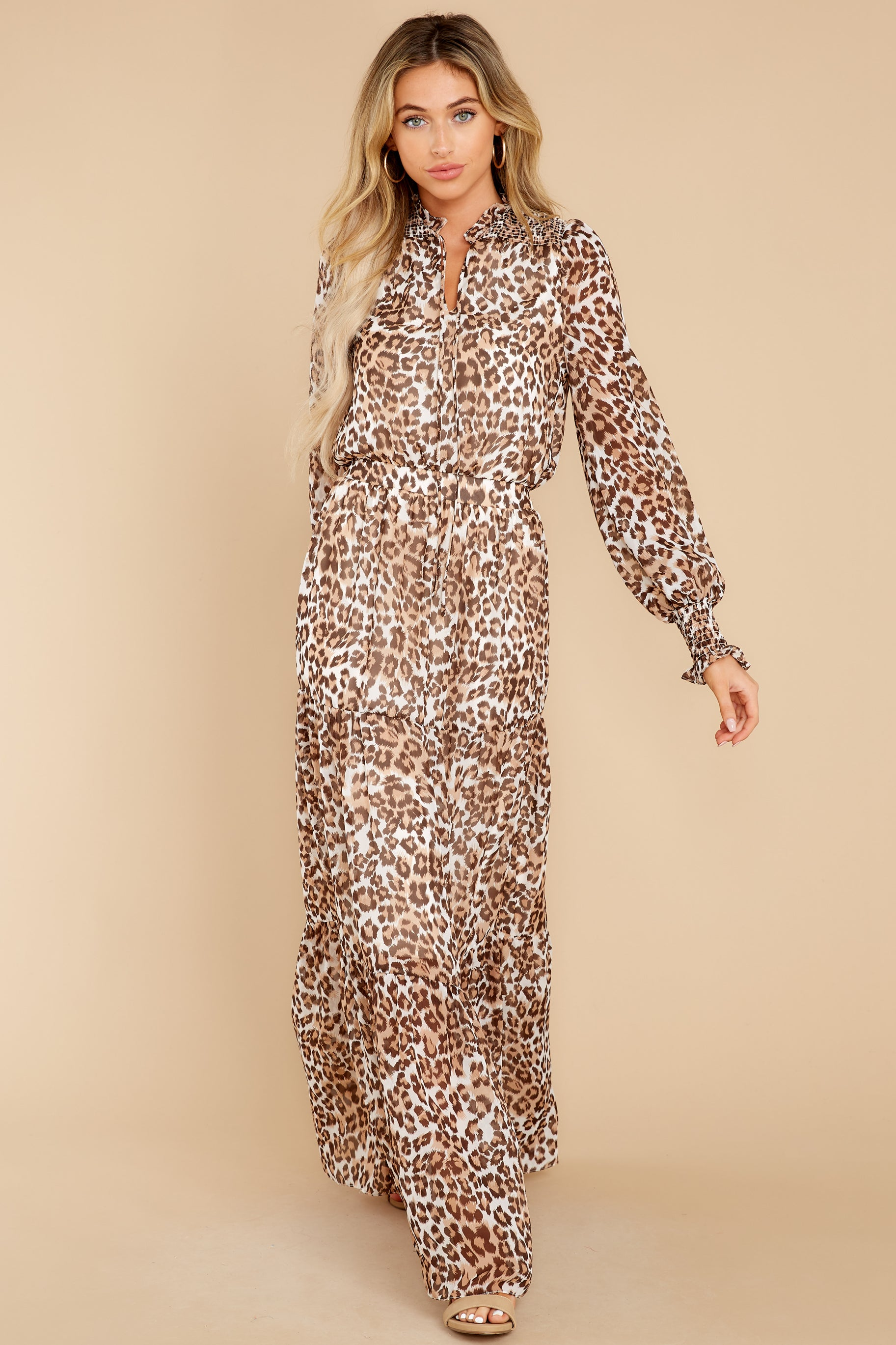 2 Steady As She Goes Leopard Print Maxi Dress at reddress.com