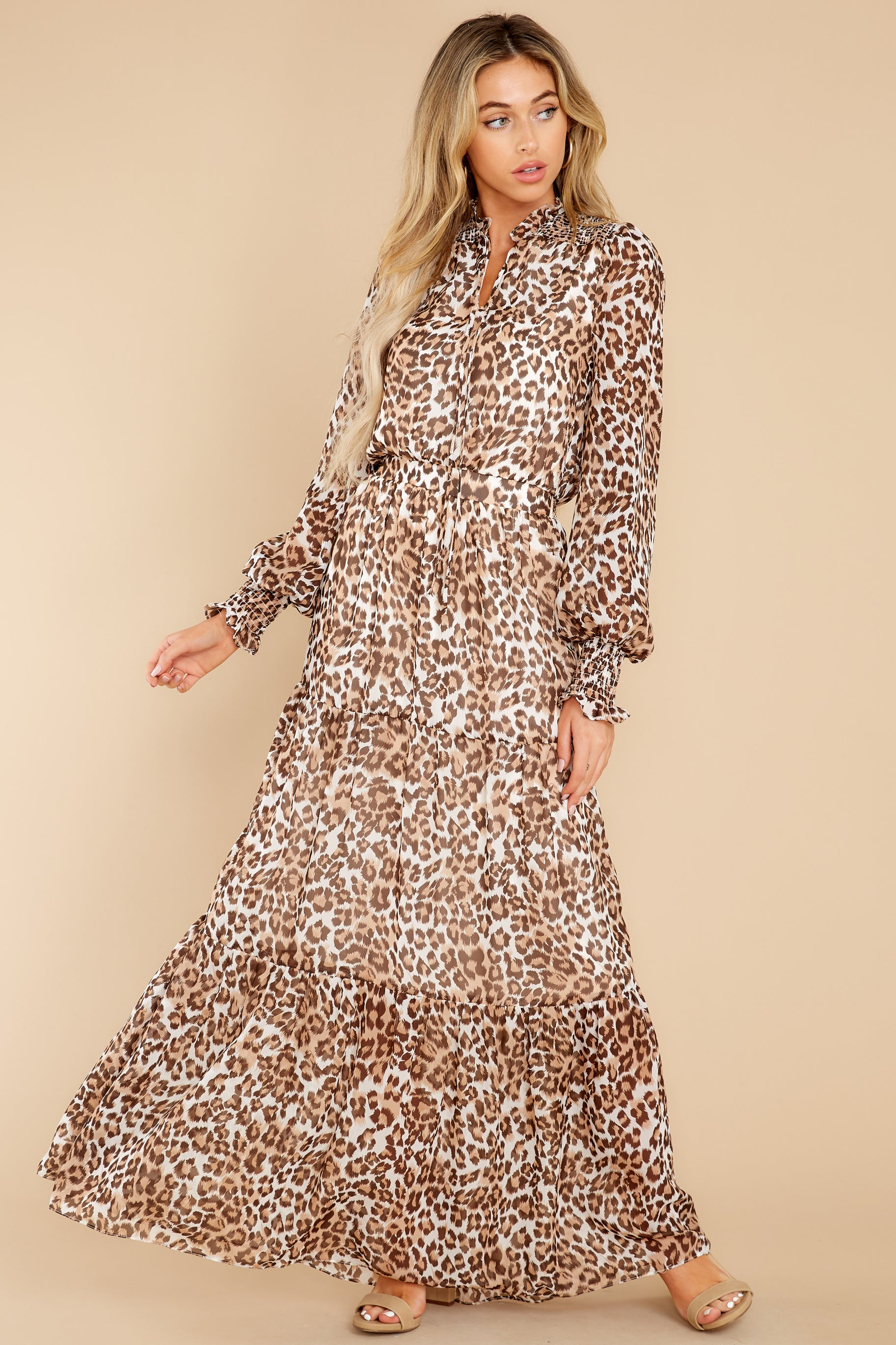 3 Steady As She Goes Leopard Print Maxi Dress at reddress.com