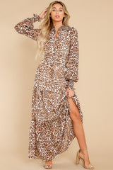 4 Steady As She Goes Leopard Print Maxi Dress at reddress.com