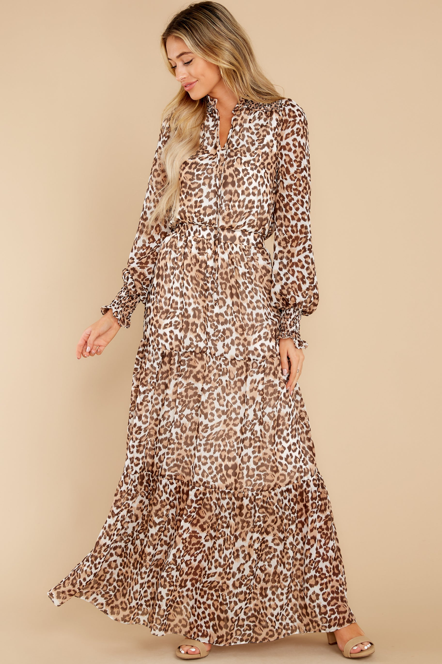 5 Steady As She Goes Leopard Print Maxi Dress at reddress.com