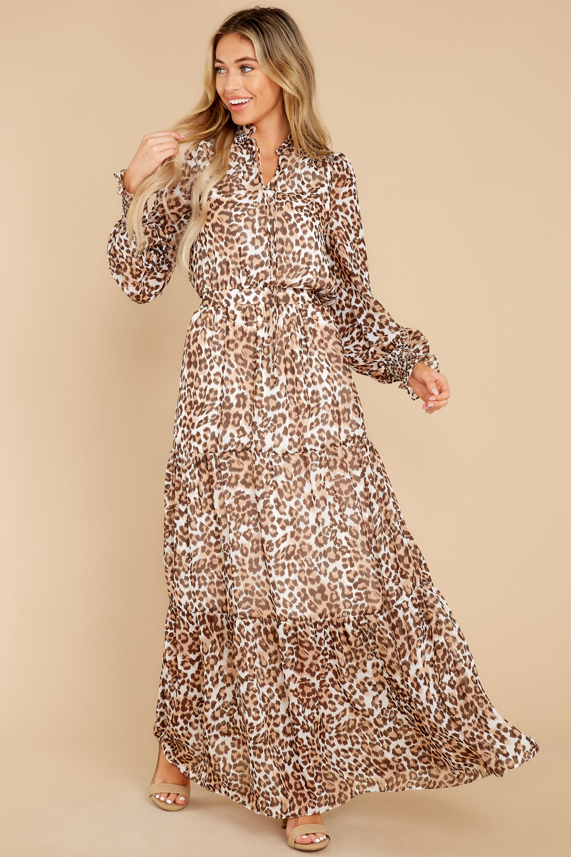 6 Steady As She Goes Leopard Print Maxi Dress at reddress.com