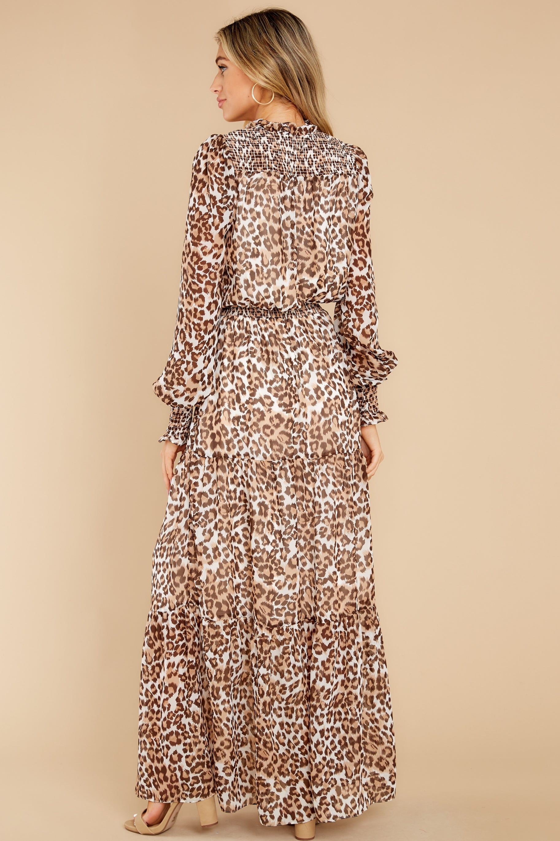 7 Steady As She Goes Leopard Print Maxi Dress at reddress.com